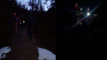 Entre la noche y la nieve, desesperado rescate de turistas en La Angostura