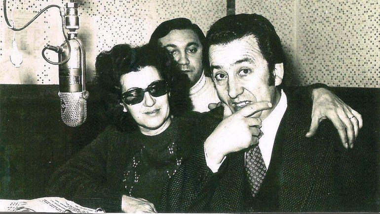 Magda Byrne con Dante Morosani y Hugo Díaz.
