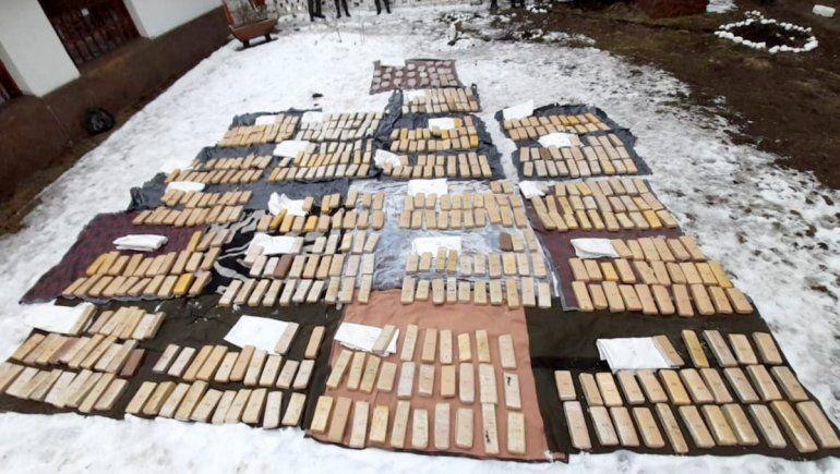 Secuestro histórico de droga en Pehuenia: hay cinco personas bajo investigación