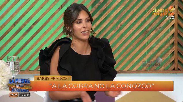 La curiosa forma en la que Barby Franco se refirió a Jimena Barón