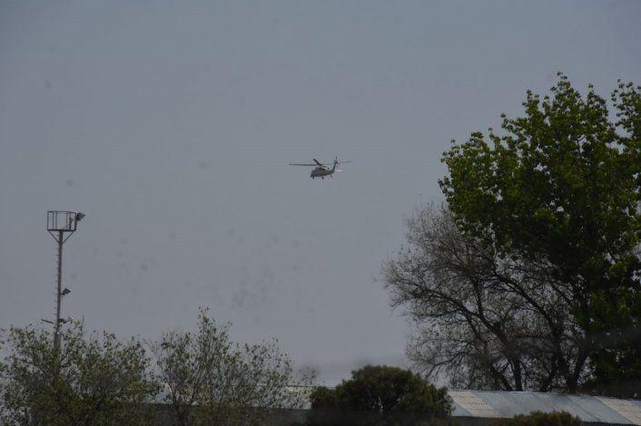 Alberto Fernández viajó el helicóptero hasta Vaca Muerta.