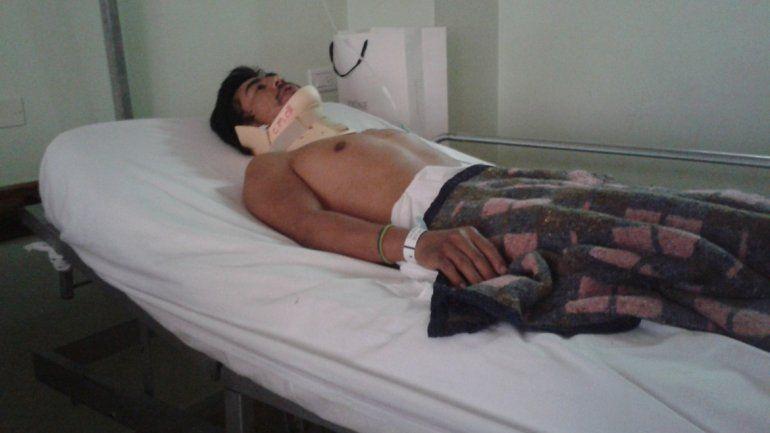 Martín Curruhuinca fue atropellado el 26 de agosto en Villa La Angostura y el jueves pasado lo derivaron a Neuquén.