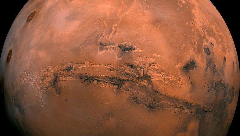 Encontraron una reserva de hielo en el sur de Marte