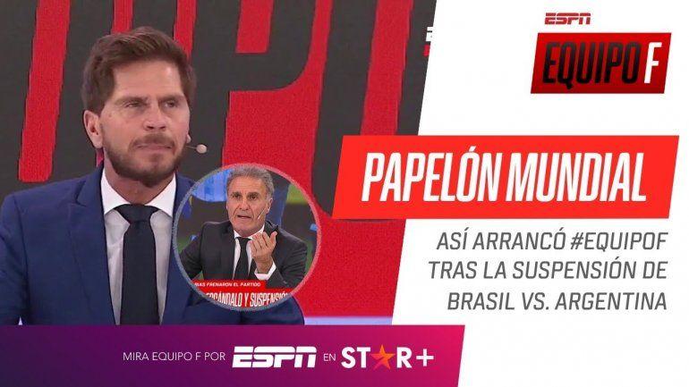 Con una pregunta, Vignolo descolocó al responsable de la suspensión de Brasil-Argentina