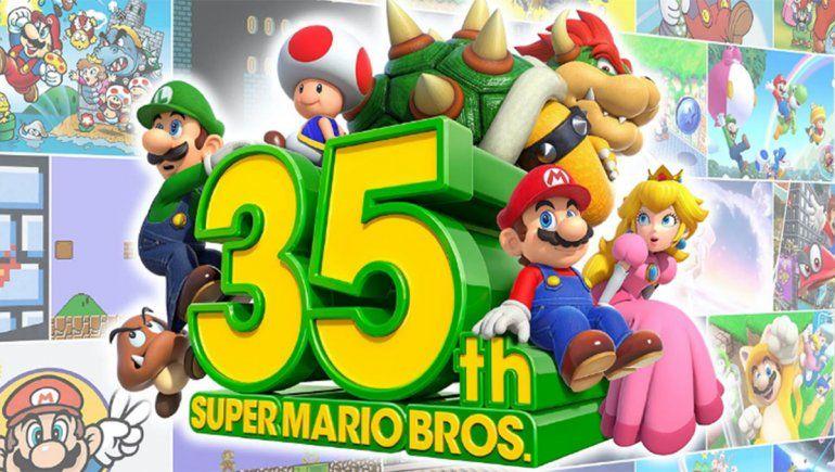 Nintendo festeja el 35° aniversario de Super Mario Bros.