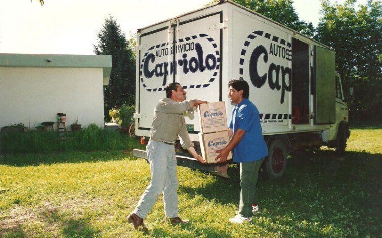 La época en la que Capriolo hacía repartos a domicilio sin las facilidades de internet.