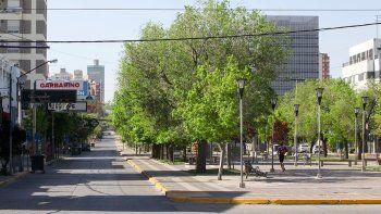 Galería: el viento y las restricciones hicieron de la ciudad un desierto