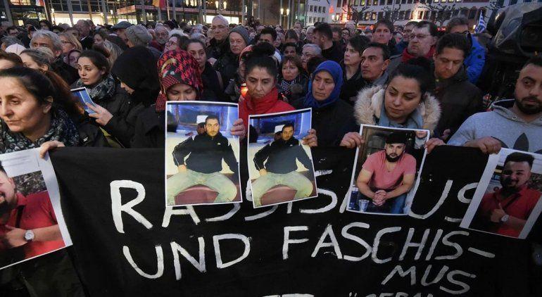 Matanza de Hanau: hubo marcha contra el odio y el racismo