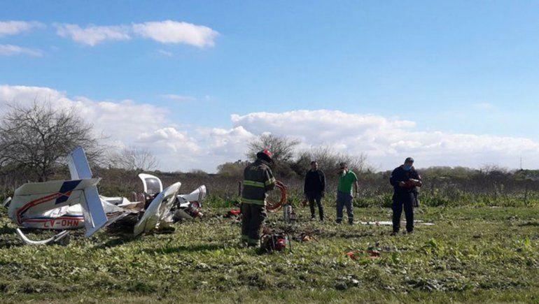 Dos muertos al caer una avioneta en Berazategui