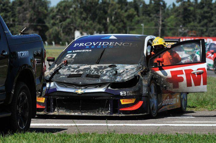 Urcera, tras el incendio: El equipo trabaja para recuperar el auto