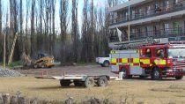evacuaron un edificio en centenario por una perdida de gas