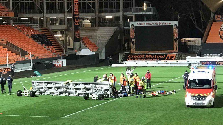 El estadio al momento que sucedió el triste episodio.