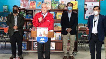 chile: pinera anuncio el regreso a las aulas
