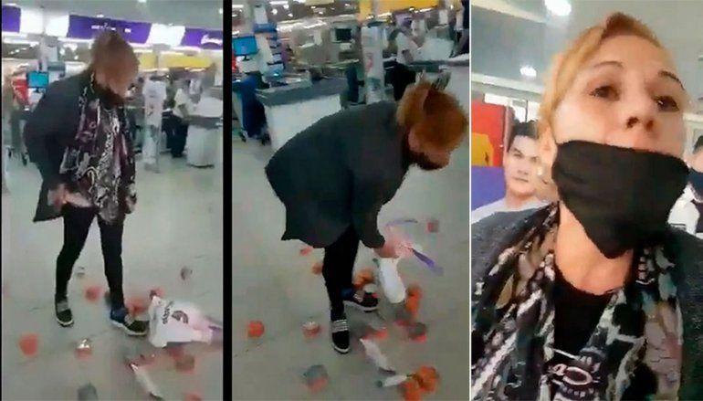 Detuvieron a la mujer que quiso robar latas de atún de un supermercado