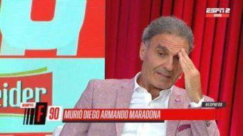 Oscar Ruggeri reveló detalles de una conversación con la ex pareja de Maradona