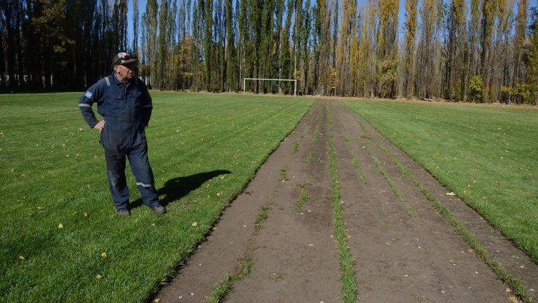 Por la crisis y la cuarentena, un predio de fútbol sale a vender el césped de sus canchas