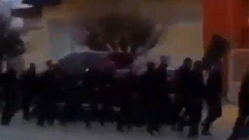 El canto con el que se entrena la Policía de Chubut: Piquetero ten cuidado