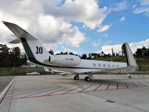 Alberto alquiló la aeronave de Messi para viajar a México
