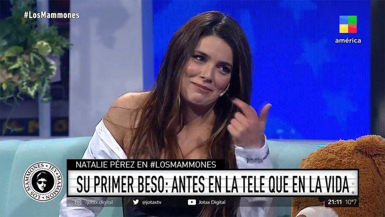 Natalie Pérez reveló que su primer beso fue en la ficción