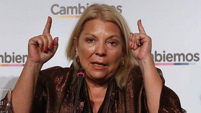 Carrió aseguró que el único candidato de Cambiemos es Macri