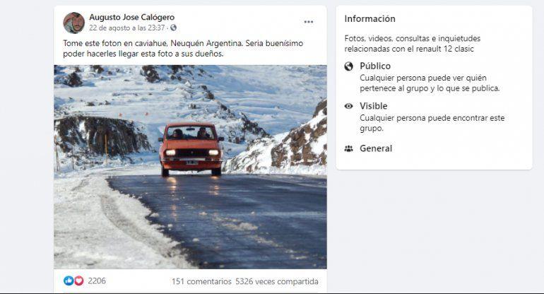 La publicación del Renault 12