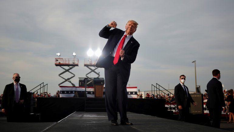 Donald Trump y un baile polémico y viral en las redes.