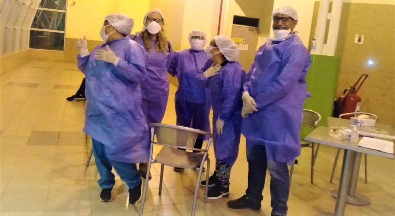 Operativo sanitario en la ETON por prevención del coronavirus