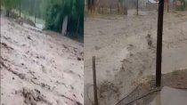 un pueblo del norte neuquino sin servicios y casas inundadas por fuerte tormenta