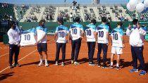davis: el emotivo homenaje del equipo argentino a maradona