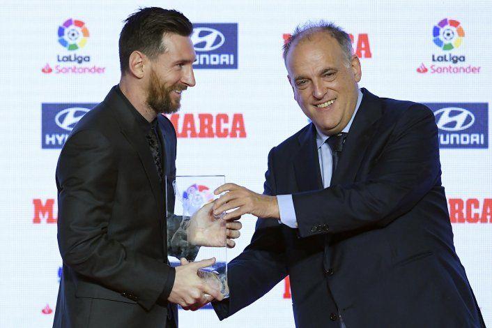 El sorprendente ninguneo a Messi del presidente de la Liga