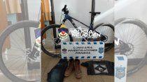 en menos de un dia, la policia recupero una bicicleta robada