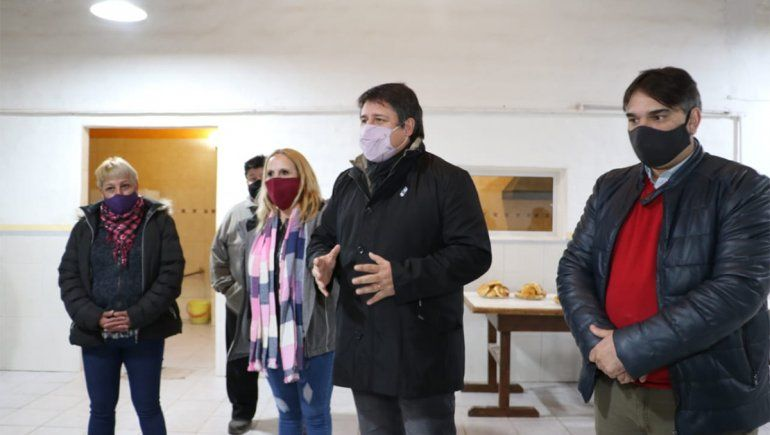 Gaido visitó obras de las vecinales que se hicieron con el Presupuesto Participativo