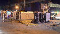 ambulancia protagonizo impactante accidente en pleno centro