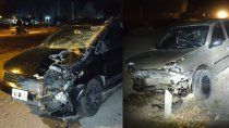 ruta 40: dos autos chocaron a un caballo y terminaron destrozados