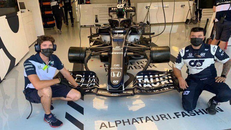 Gregorio Mandrini llegó hace un mes al equipo AlphaTauri de Fórmula 1