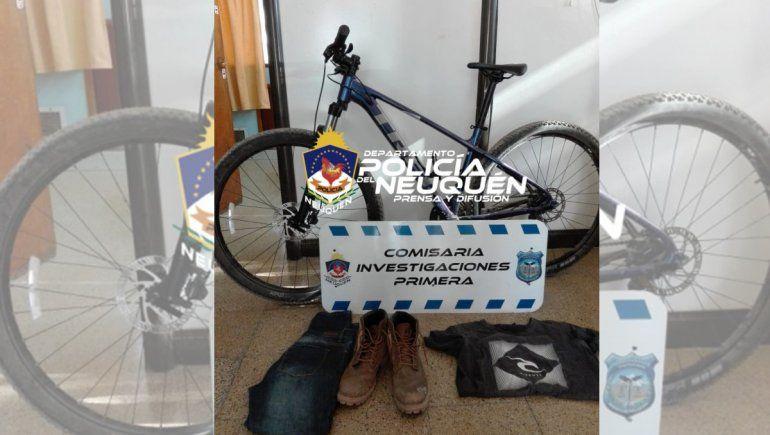 En menos de un día, la Policía recuperó una bicicleta robada