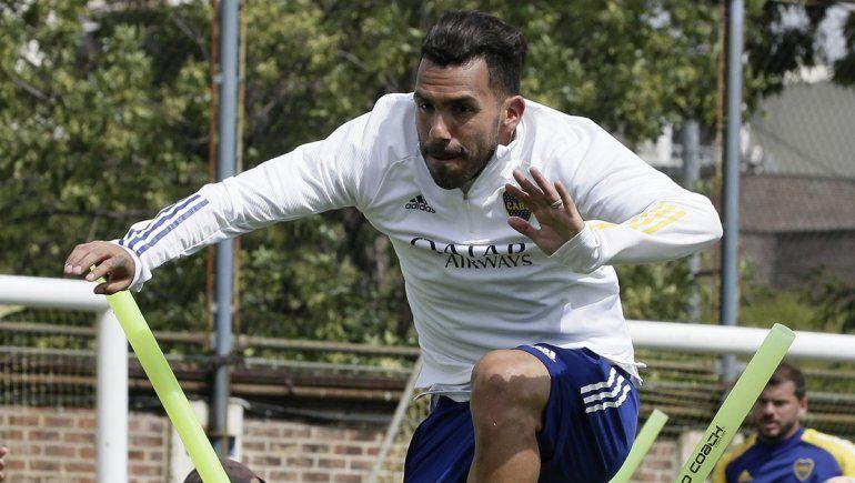Tras 10 días, Tevez volvió a entrenarse en Boca