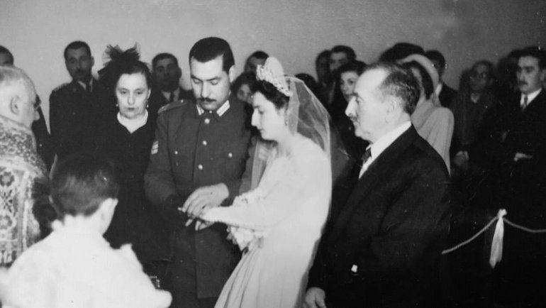 Mario y María, el día de la boda. El 7 de junio de 1951.