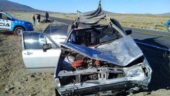 Un muerto y dos heridos tras chocar con un caballo en la Ruta 40