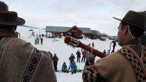 la payada tuvo eco en el cerro nevado batea mahuida
