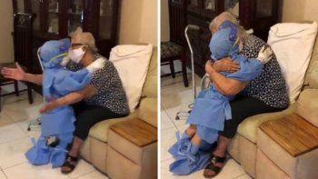 TikTok: abuela y bisnieto se hacen viral por un cálido abrazo en pandemia.