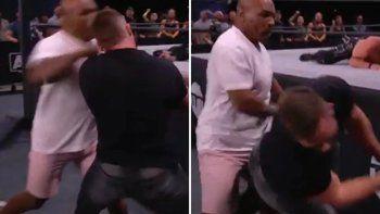 tremendo nocaut de tyson en una pelea de lucha libre
