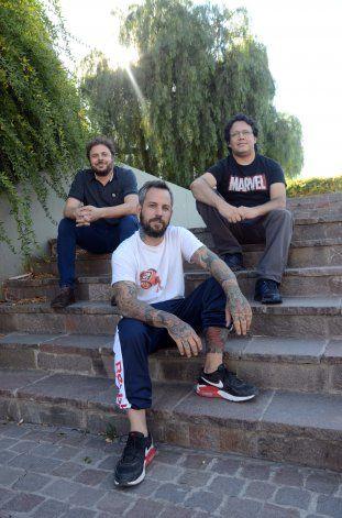 Tomás Watkins, Cristián Carrasco y Bruno Revello, creadores de Almacén Literario.