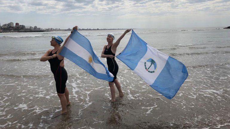 Por primera vez una neuquina cruzó a nado el Canal de la Mancha