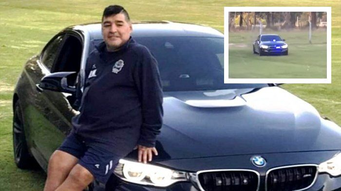 Diego Maradona se compró un auto tuneado