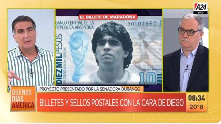 Laje criticó el billete de Diego y bancó los animales de Macri