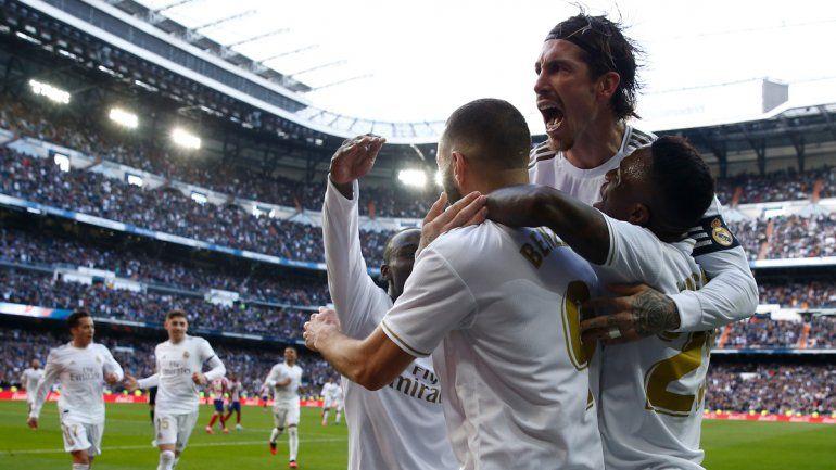 Benzema anotó para el Real en el clásico madrileño.