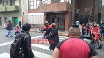 harta de los cortes, jubilada enfrento a manifestantes a machetazos