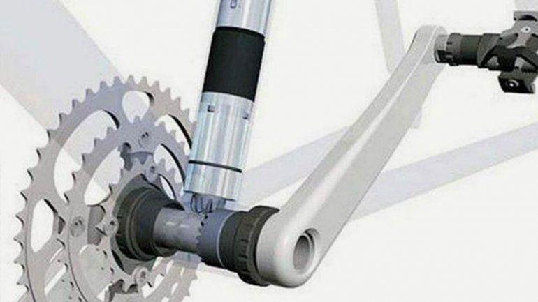 El diminuto motor en la bici: igual hay que pedalear aclaran.