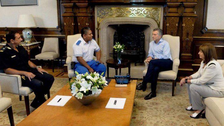 Chocobar fue respaldado por el entonces presidente Mauricio Macri, con quien se reunió.
